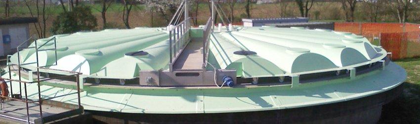 Abbattimento Odori Depuratore copertura vasche sedimentazione