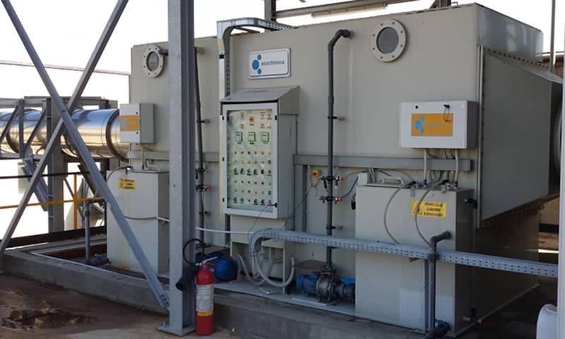 Abbattimento Odori, intervento di ottimizzazione per eliminazione dei reagenti chimici dallo scrubber della Tossilo SpA