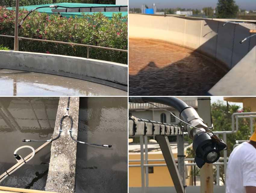 Abbattimento Odori Depuratore - Floating Barrier