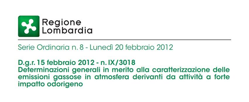 Odori Molesti Normativa - DGR Lombardia