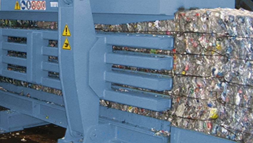 Imballaggi in plastica - pressatura e legatura