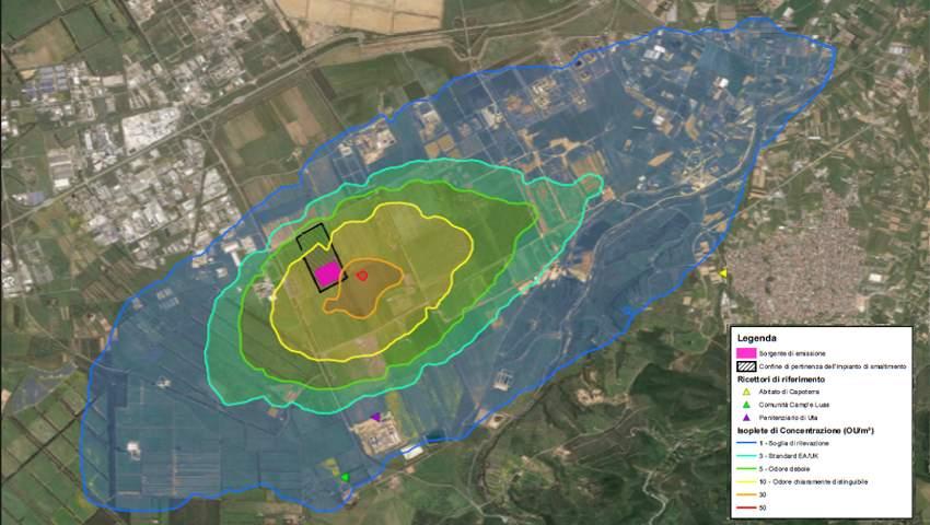 Molestie Olfattive - rappresentazione grafica dei software di simulazione della dispersione